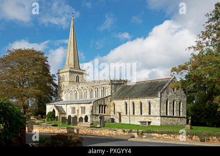 THe Parish Church of St Peter & St Paul, Drax village, North Yorkshire, England UK - Stock Image