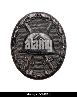 German Nazi Wound Badge Isolated on White. - Stock Image
