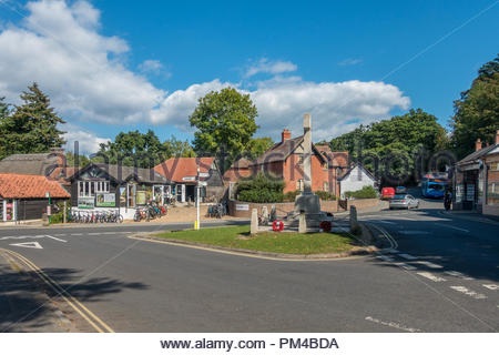 The village of Burley in the New Forest, Hampshire, UK - Stock Image