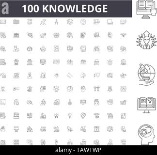 Knowledge line icons, signs, vector set, outline illustration concept  - Stock Image