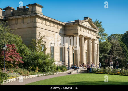 Exterior architecture of The Yorkshire Museum building, Museum Gardens, York city centre, North Yorkshire, England - Stock Image