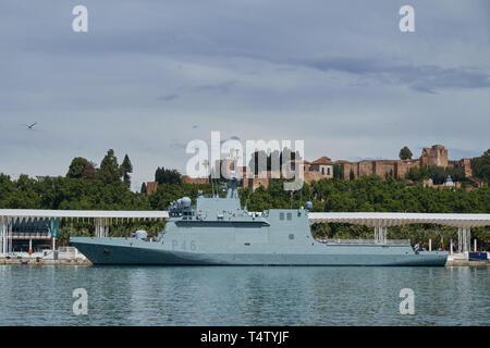 P-46 Furor. Port of Málaga, Andalusia, Spain. - Stock Image
