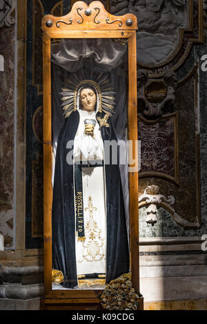 Italy. Sicily, Palermo religious shrine - Stock Image