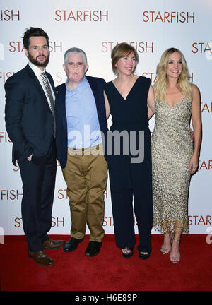 Tom Riley, Tom Ray, Nicola Ray and Joanne Froggatt attending the UK premiere of Starfish at the Curzon Mayfair cinema - Stock Image