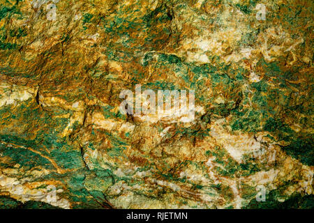Close-up on Silica carbonate rock - geology texture and background - Stock Image