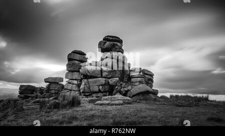 Staple Tor, rock formation, Dartmoor National Park - Stock Image
