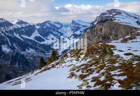 Snowy Niederhorn - Stock Image