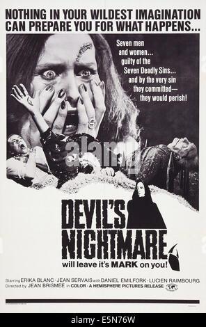 THE DEVIL'S NIGHTMARE, (aka LA PLUS LONGUE NUIT DU DIABLE; SUCCUBUS; AU SERVICE DU DIABLE; VAMPIRE PLAYGIRLS; - Stock Image
