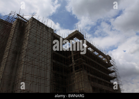 An uncompleted building, at Ikeja in Lagos Nigeria - Stock Image