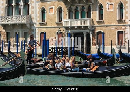 Gondola ride in Venice - Stock Image