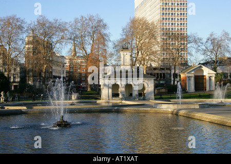 The Italian Garden in Kensington Palace Gardens London UK - Stock Image