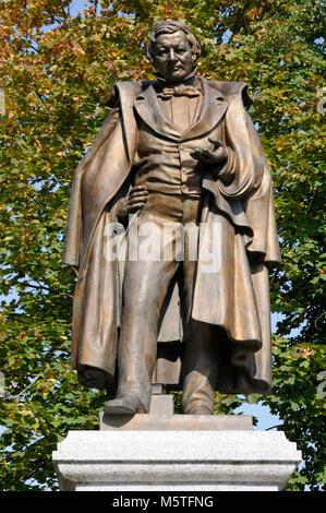 Statue Eilhard Mitscherlich, Jever, Niedersachsen, Deutschland.   Statue Eilhard Mitscherlich, Jever, Lower Saxony, - Stock Image