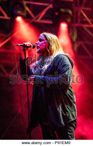 Aix-les-Bains, France, 13 July 2018. Zeal & Ardor performing live at Musilac festival in Aix-les-Bains (France) - 12 July 2018 Credit: Olivier Parent/Alamy Live News - Stock Image