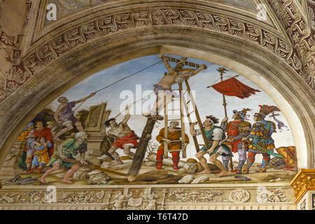 Martyrdom of St Philip the Apostle, Crucifixion of St Philip, Filippino Lippi, 1502, Filippo Strozzi Chapel, Basilica di Santa Maria Novella, Church o - Stock Image