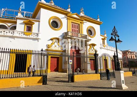Bullring in Seville,Spain - Stock Image