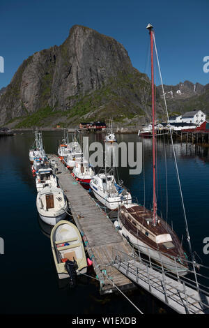 Hamnoy harbour, Lofoten Islands,Norway. - Stock Image