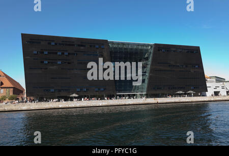The Black Diamond, the Royal Library in Copenhagen, Denmark - Stock Image