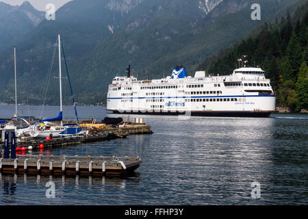 BC Ferries vessel 'Queen of Oak Bay' (1981) at Horseshoe Bay, West Vancouver, BC, Canada - Stock Image