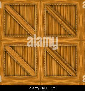 wooden crate closeup - Stock Image