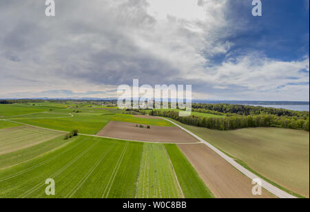 Landscape at Andechs Monastery, Bavaria, Germany - Stock Image