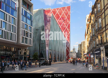Nova, a striking modern high rise building by Morpheus London,  a mixed use development in Belgravia, Victoria, Westminster London SW1, UK - Stock Image