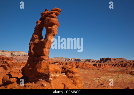 Rock formations, hoodoos, on Ward Terrace, Navajo Nation, Coconino County, Arizona, USA - Stock Image