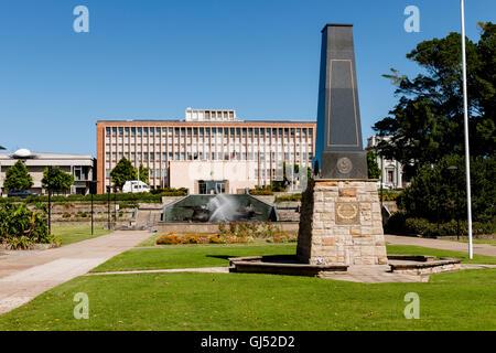 Civic Park Memorial in Newcastle, Australia. - Stock Image