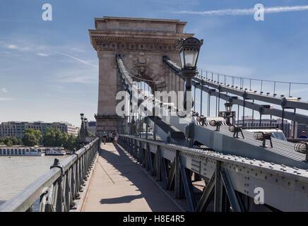 Chain Bridge, Budapest, Hungary - Stock Image