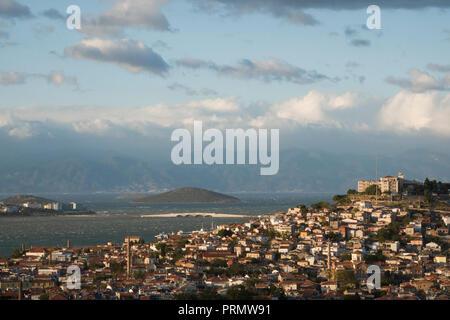 Coastal town of Ayvalik on the Aegean coast, Turkey - Stock Image