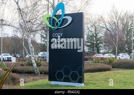 Cody Technology Park - sign outside the campus in Farnborough, Hampshire, UK - Stock Image