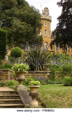 Belvoir Castle Gardens, Leicestershire, England UK - Stock Image