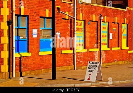 Sheffield, Commercial building, England - Stock Image