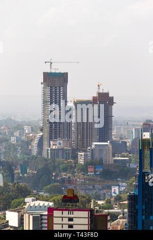 Buildings being constructed by AVIC International Real Estate Kenya in Westlands district, Nairobi, Kenya - Stock Image