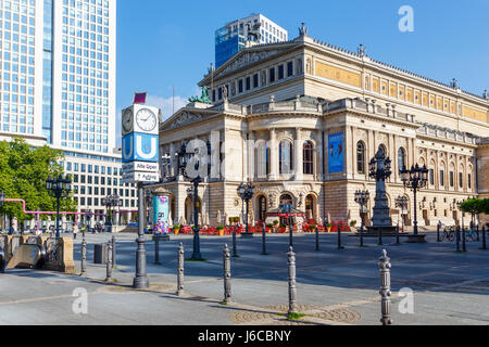Alte Oper ('Old Opera') in Frankfurt, Germany. May 2017. - Stock Image