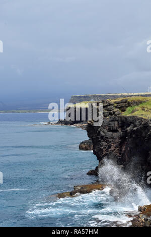 Southernmost Point of the United States on the Big Island of Hawaii - Stock Image