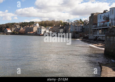 Waterfront at South Queensferry, nr Edinburgh, from the slipway - Stock Image