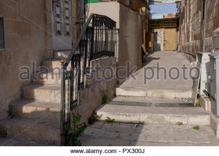 Alley in the Old City of Jerusalem - Stock Image