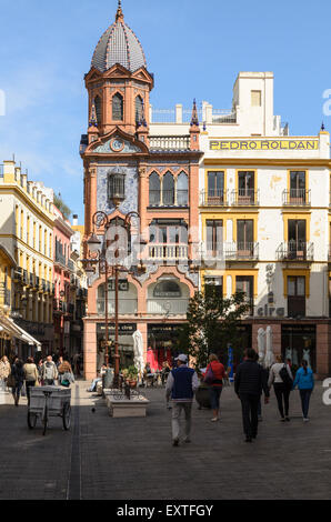 Plaza del Pan in the centre of Seville, Andalucia, Spain. - Stock Image