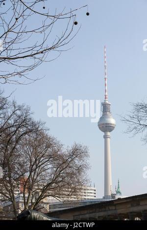 Germany, Berlin. Berlin TV Tower seen from Museum Island. Credit as: Wendy Kaveney / Jaynes Gallery / DanitaDelimont.com - Stock Image