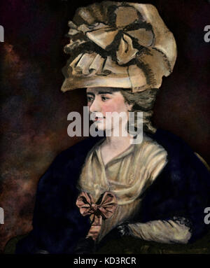 Frances Burney/ Fanny Burney/ Madame d'Arblay (13 June 1752 – 6 January 1840). English novelist, diarist and playwright. - Stock Image