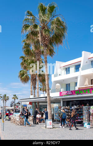 Seafront shops, Poseidonos Avenue, Paphos (Pafos), Pafos District, Republic of Cyprus - Stock Image