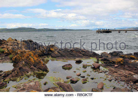 Portencross, North Ayrshire, Scotland, UK - July 19,2015:View across the Firth of Clyde from Portencross. - Stock Image