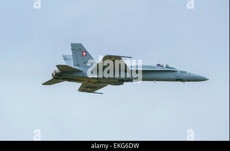 Swiss Air Force F/A-18 Hornet RIAT 2014 - Stock Image