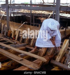 Dhow building Manama Bahrain - Stock Image