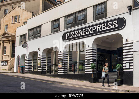 PizzaExpress restaurant, Bristol, UK - Stock Image