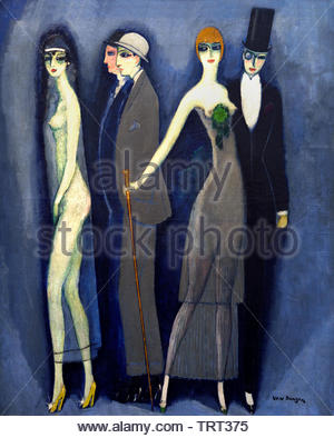 Comedia (Montparnasse Blues) 1925 by Kees van Dongen (Cornelis Theodorus Maria) born in 1877 was a Dutch-French painter who was one of the leading Fauves. The Netherlands, France. - Stock Image