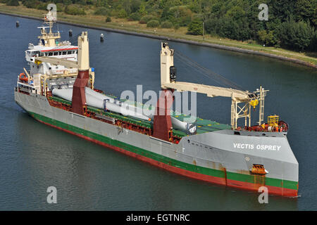 General Cargo vessel Vectis Osprey - Stock Image