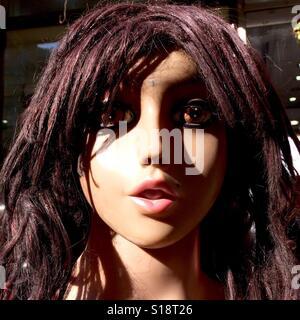 Mannequin's face, Kathmandu, 2017 - Stock Image