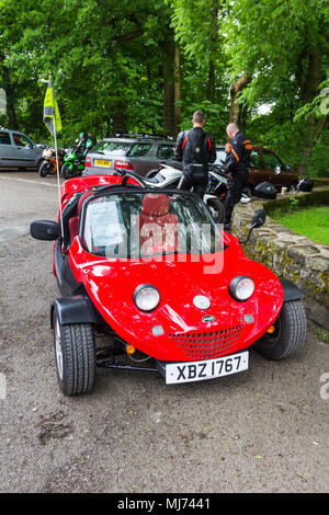 Secma Road Runner sports fun vehicle. Three wheel leisure motor fitted with 1.4 litre Peugeot car engine. Manufactured in France 2006. - Stock Image