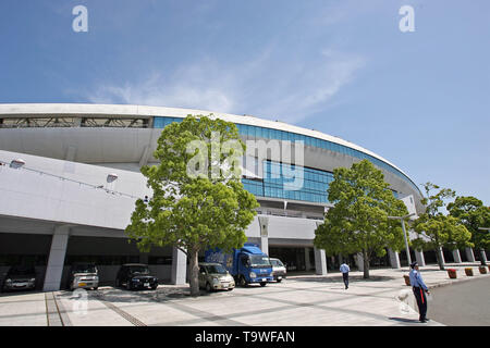 FILE : General view of Fukuoka Hakatanomori Stadium venue for the Rugby World Cup 2019 which will be held in Japan. Image taken MAY 3, 2006 - Football : 2006 J.LEAGUE Division 1 match between Kawasaki Frontale 2-1 Avispa Fukuoka at Hakatanomori stadium, Fukuoka, Japan . Credit: AFLO SPORT/Alamy Live News - Stock Image
